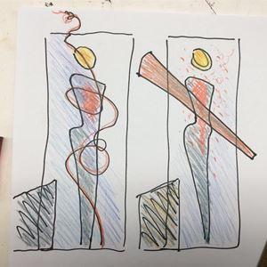 Bild på Skisser, det olydiga revbenet