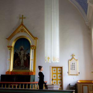 Bild på Ljuspelare. Gräsgårds kyrka, Öland