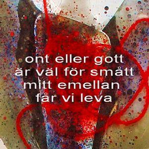 Bild på Poem på glasbild