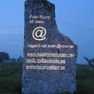 Bild på Konstnatten 2005, Seby gravfält